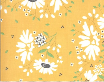 """30"""" piece/remnant - Spring Brook - Hope Springs in Sunny (yellow): sku 29110-14 cotton quilting fabric yardage by Corey Yoder for Moda"""