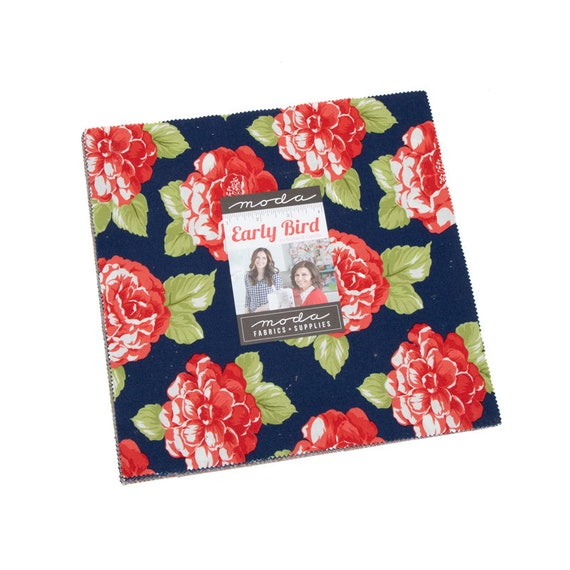 Scarlet and Sage Layer Cake 42-10 inch Precut Fabric Quilt Squares by Fig Tree /& Co for Moda Fabrics