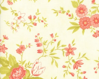 Ella and Ollie - Meadow in Milk: sku 20300-16 cotton quilting fabric by Fig Tree and Co. for Moda Fabrics