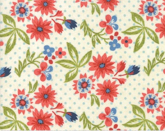 """31"""" piece/remnant - Biscuits and Gravy - Grow Daisies in Creamy White: sku 30481-12 cotton quilting fabric by BasicGrey for Moda Fabrics"""