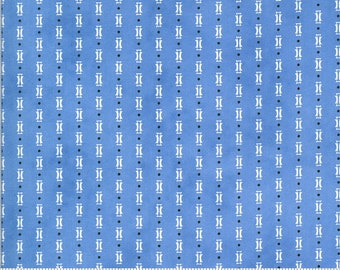 """33"""" piece/remnant - Figs and Shirtings - Papa's Pajamas in Cornflower Blue: sku 20396-22 cotton quilting fabric yardage by Fig Tree Co Moda"""