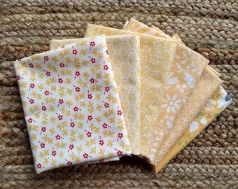 6 Fat Quarter Bundle - Yellows - Fig Tree and Co. Corey Yoder Moda Fabrics
