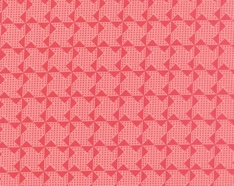 """2 remnants - a 9"""" piece and an 11"""" piece - Gooseberry - Pinwheels in Petal Pink: sku 5014-12 cotton quilting fabric by Lella Boutique"""