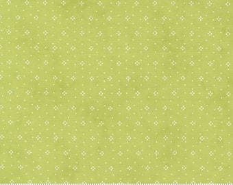 Strawberries and Rhubarb - Eyelet in Granny Smith: sku 20407-14 cotton quilting fabric yardage by Fig Tree & Co for Moda Fabrics