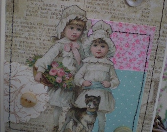 Best Friends Vintage Style Note Card