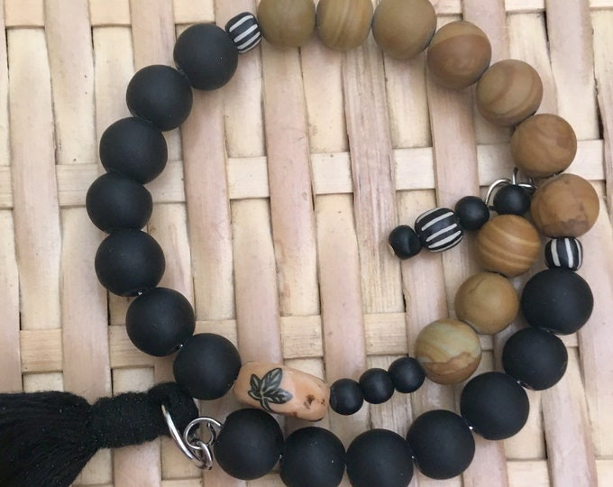 His/Her - Customizable Wrap Around Mala/Prayer Bracelet