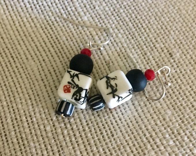 Tiajin Talk Cube Earrings