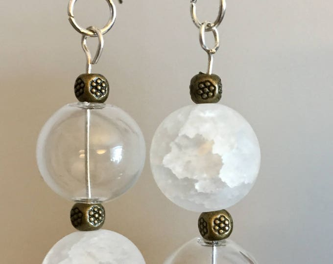 Snowflakes - asymmetrical earrings