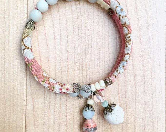 Juliet - wrap around chirimen cord bracelet