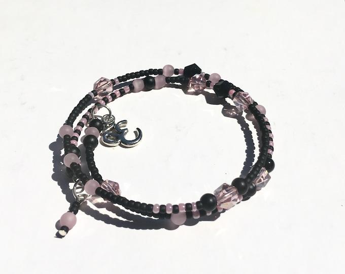 Zee-Zebra-Pink - One of a Kind Wrap Around  Memory Bracelet