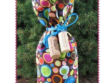 Wine Bottle Bag Pattern, Gift Bag Pattern, Wine, Wine Bottle, Bottle Bag, Wine A Little Gift Bag PDF Pattern