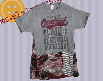 Central Michigan Women's Shirt, Fire Up Chips, Tailgate Clothes, Central Michigan Alumni, Swing Shirt, Graduation Gift, CMU Tailgate