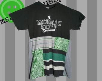 Michigan State Women's Shirt, MSU Spartans, Tailgate Clothes, Alumni, Bridesmaids Gift, Graduation Gift, Michigan State Spartans