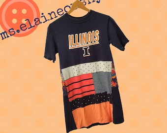 University of Illinois Women's Shirt, Illini, Tailgate Clothes, Alumni, Swing Shirt, Graduation Gift, Fighting Illini, Illinois