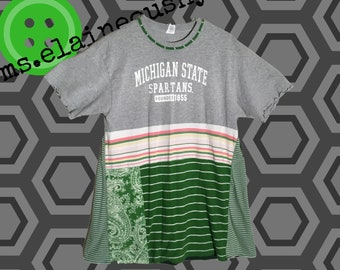 Michigan State Women's Shirt, MSU Spartans, Alumni, MSU Alumni, MSU Swing Shirt, Graduation Gift, Michigan State Spartans
