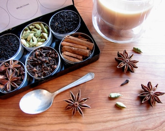 DIY chai tea kit  with recipe - set of 6 - a great gift for your favorite tea lover.