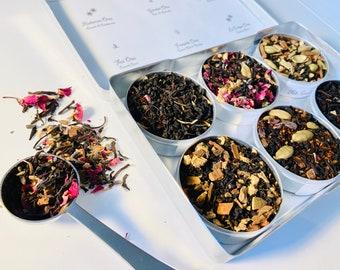 Chai Tea Blends in a gift box, organic and fair trade teas and botanicals