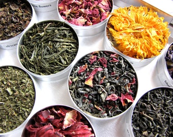 Herbal and green tea gift set- a beautiful gift for a tea lover.