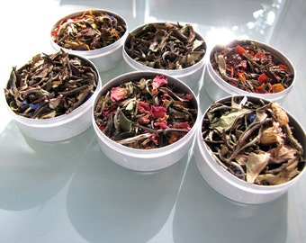 Premium organic white teas for your favourite tea lover. Six varieties in a gift box.