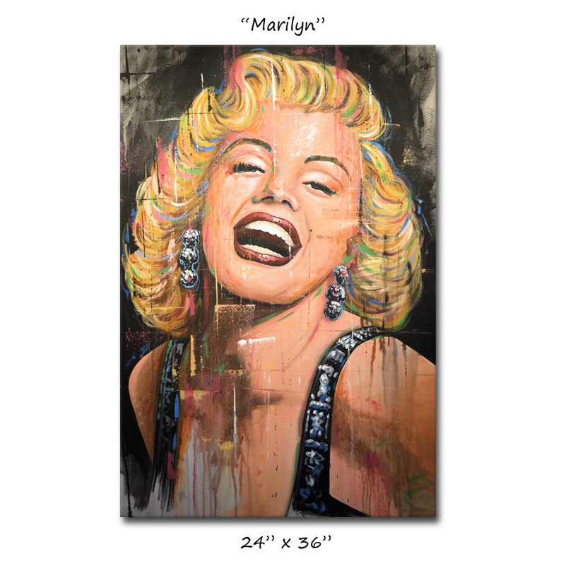 d1938a6f798 Marilyn Monroe Original Portrait Painting Hollywood icon Art by Amy  Giacomelli, You can WATCH a vid of me doing this painting