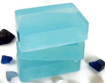 Sea Glass Soap, Homemade Soap Bar, Detergent Free Soap