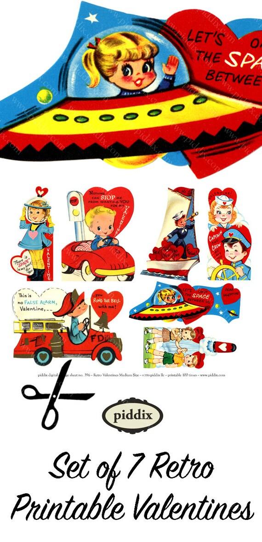 Retro Valentine Clipart Valentines Day Clip Art For Kids Etsy