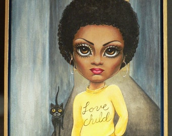 Love Child Painting - Diana Ross