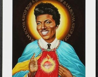 St Little Richard signed Giclee print