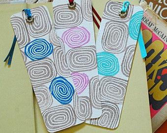 Hand Printed Bookmark Trio