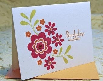 Birthday Wishes Letterpress Card