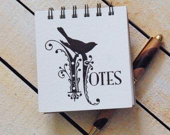 Pink Bird Letterpress Notepad