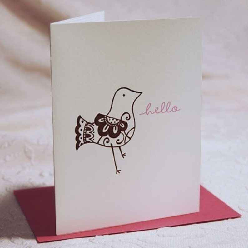 Hello Birdie Letterpress Notes image 0