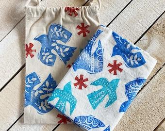 Flying Birds Tea Towel