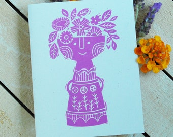 Flower Lady Letterpress Note Cards
