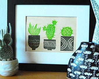 Cactus Trio Mini Print