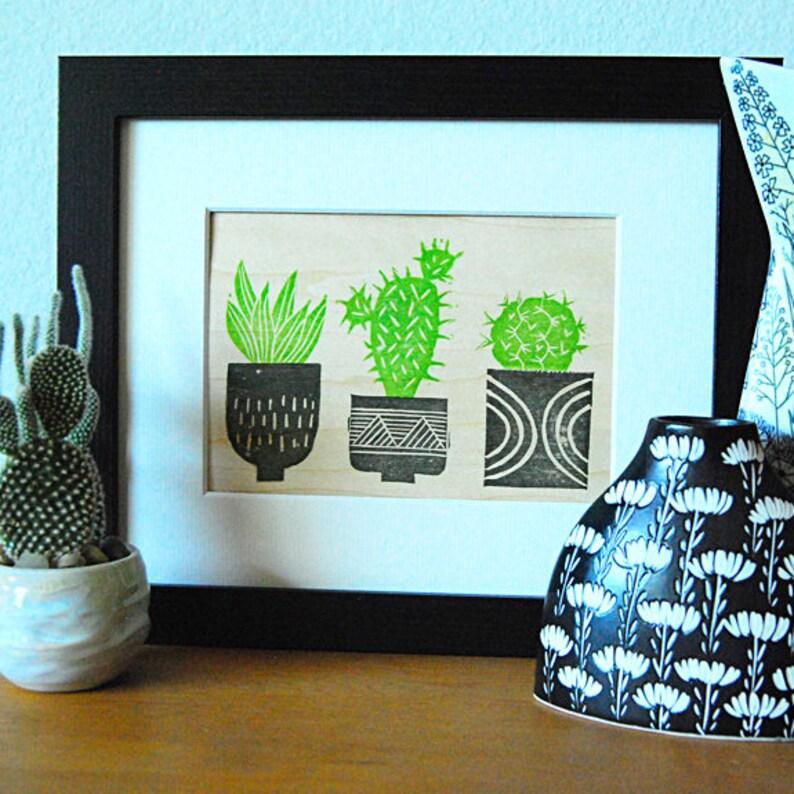 Cactus Trio Mini Print image 0