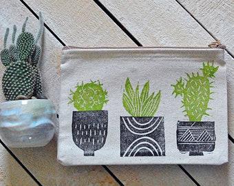 Cactus Garden Zip Pouch
