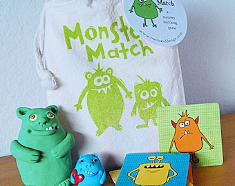 Monster Match Memory Card Game