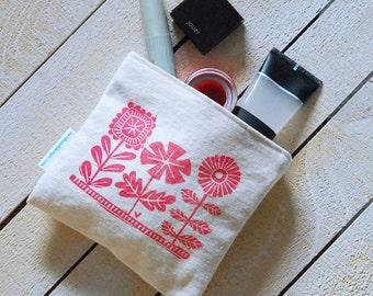 Flower Garden Reusable Snack Bag Cosmetic Case
