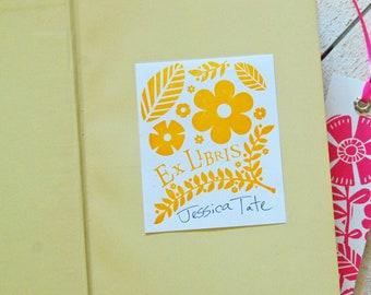 Floral Ex Libris Bookplates