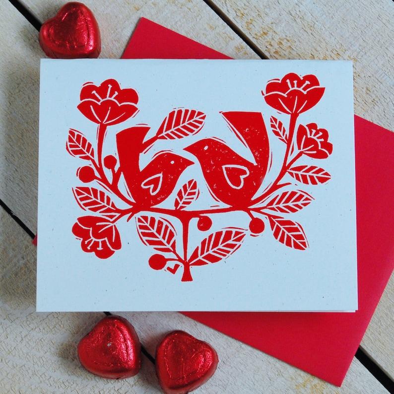 Love Birds Letterpress Card image 0