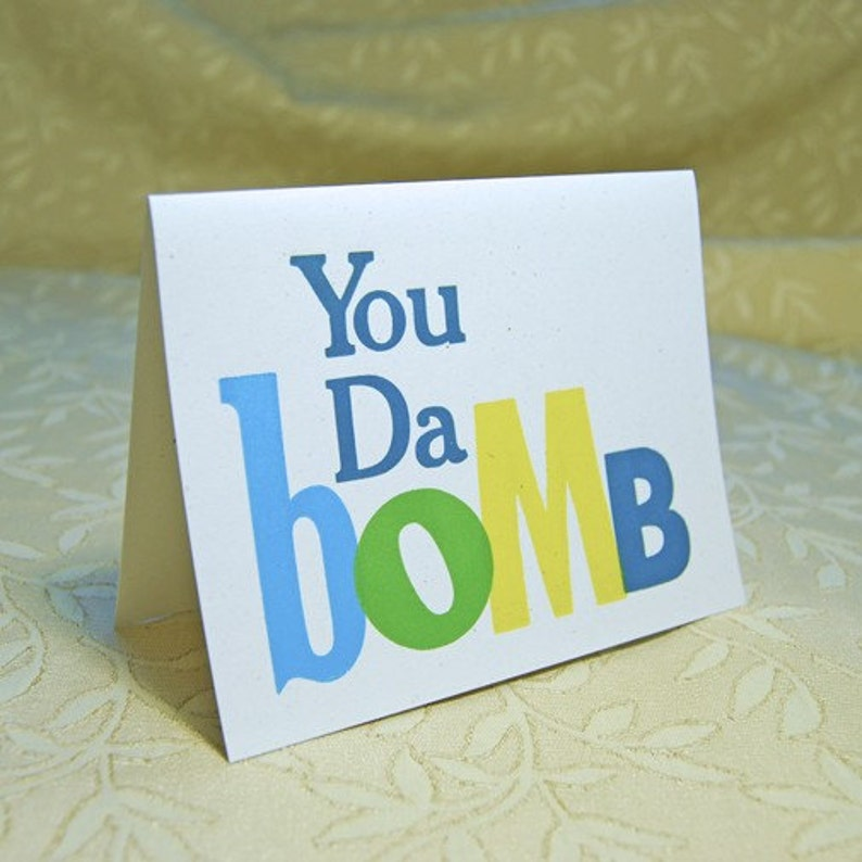 You Da Bomb Letterpress Card image 0