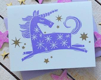 Unicorn Letterpress Note Cards