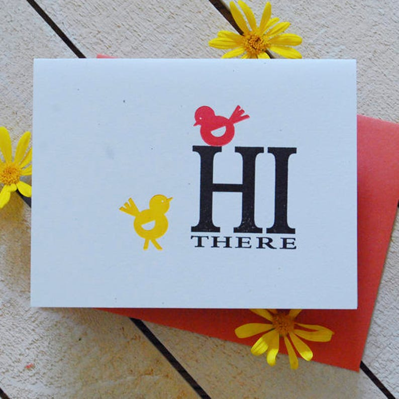 Hi There Letterpress Note Cards image 0