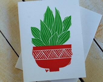Succulent Letterpress Note Cards
