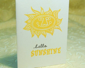 Hello Sunshine Letterpress Notes