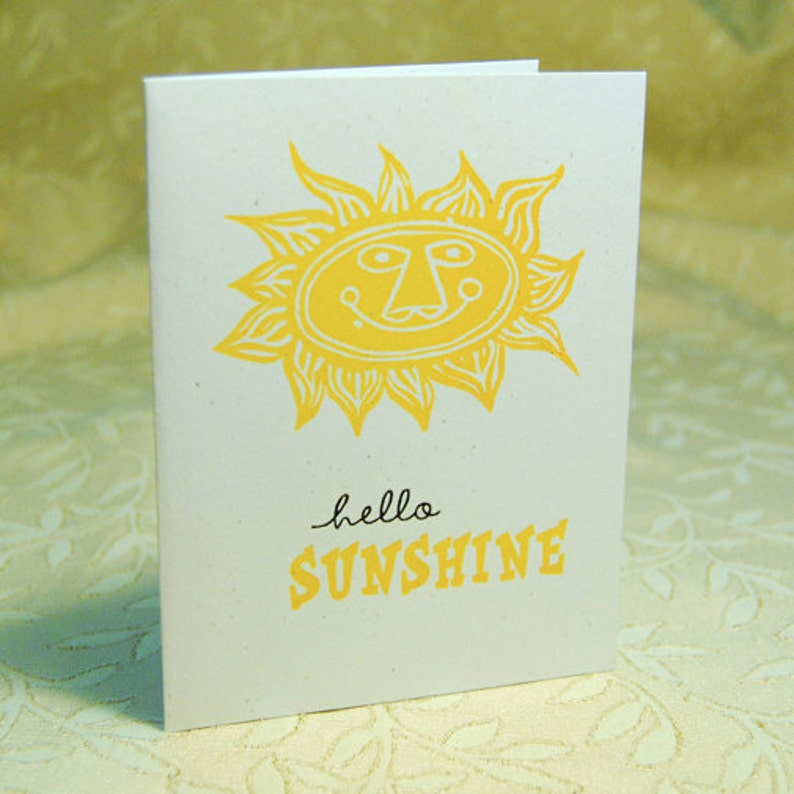 Hello Sunshine Letterpress Notes image 0