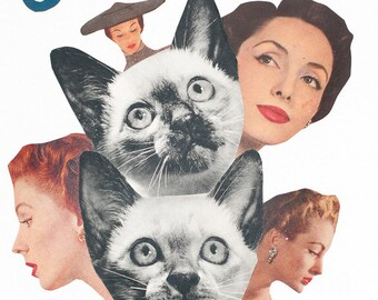 Mixed Media Art Print - Cat Tree
