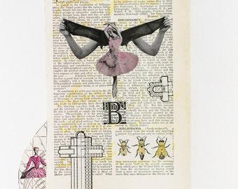 Mixed Media Art Print - Bibliomania