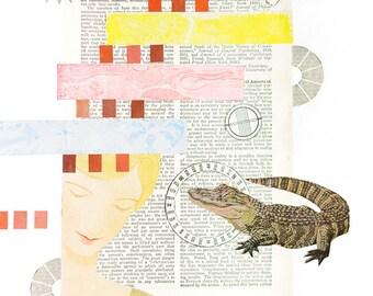 Mixed Media Art Print - Conciousness